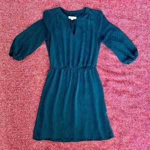 LOFT dark green dress